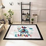Zinsale Große Verdicken Baby Krabbeldecken Baumwolle Spielmatte Kindergarten Aktivität Pad Krabbelmatte (Elstern und Elefanten)