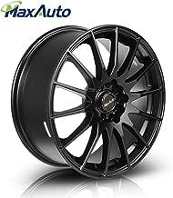 MaxAuto 1 pcs 17x7, 5x114.3, 73.1, 45, Matte Black Finish Rims Alloy Wheels Compatible with Toyota Camry 1986-2017/Honda Accord 1998-2002 2005-2011 2014 2017/Toyota Corolla 03-17/Honda Civic 04-17