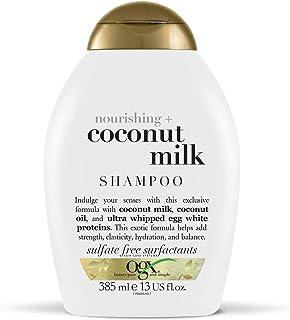 OGX Nourishing + Coconut Milk Moisturizing Shampoo for Strong & Healthy Hair, with Coconut Milk, Coconut Oil & Egg White P...