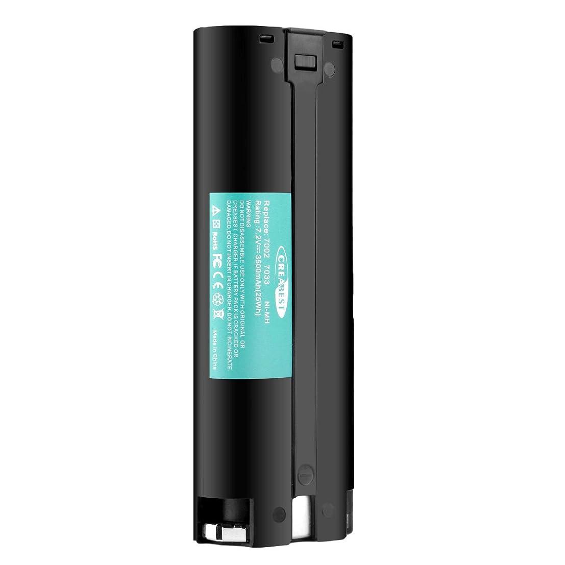昇る絶対の鋭くCreabest 7.2V 3500mAh ニッケル水素大容量 互換バッテリー Makita マキタ 7000 7002 7033 191679-9 192532-2 192695-4 632002-4 632003-2 互換バッテリー