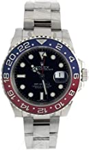 Rolex GMT-Master Ii Black Dial Blue and Red Blue Bezel Watch 116719