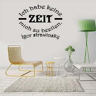 Vinyl Decal Quote Art Wall Sticker Mirror Decal German Quotes Ich Habe Keine Zeit Mich Zu Beeilen Igor Strawinsky for Living Room Bedroom
