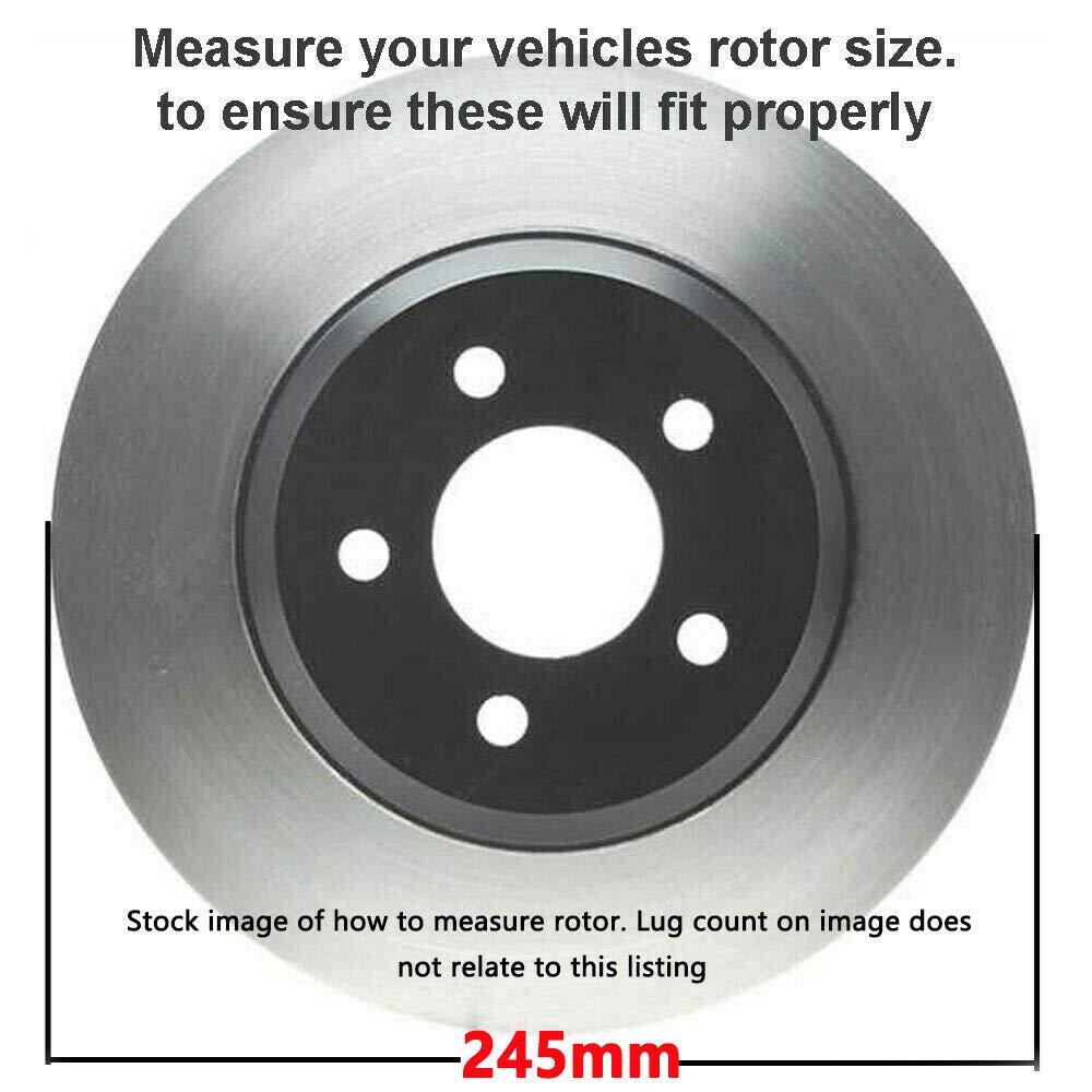 Rotors w//Ceramic Pads OE Brakes 1998-2004 A6 Passat 2WD Rear