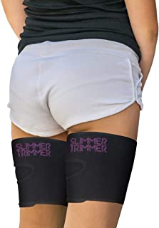"""Slimmer Trimmer Premium Thigh Trimmers - Pair Weight Loss Sweat Leg Trainers Women Men (Up to 32"""") Thermal Slimming Wraps. Thigh Fat Burner, Exercise Enhancer Sweating (One Size fits Most (up to 32"""