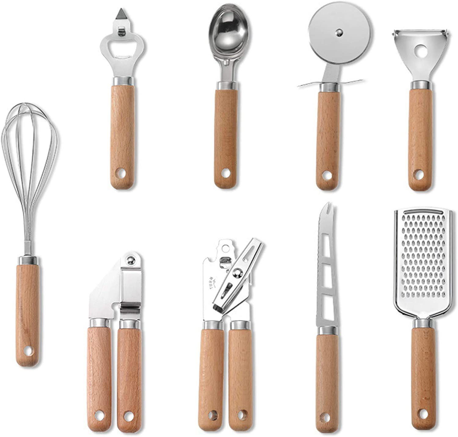 Challenge the lowest price Alapaste 9Pcs Kitchen Gadget Set Cash special price wit Steel Stainless Utensil
