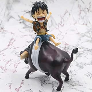 NAMFXH One Piece Luffy Riding Bull Limited Edition Statue Decoration PVC Cartoon Character Collection Birthday Gift Toy Fi...