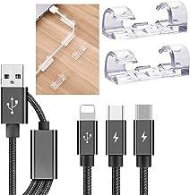 100 STKS transparante kabelklemmen, sterke zelfklevende kabeldruppeldraadhouder, duurzame mount-ronde kunststof koord mana...