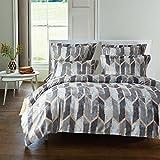 DOTBUY Bettbezug Set, Generic Luxus Volant Bettdecke Bettbezug Set Einfache Bettwäsche Set Gemütlich enthalten Bettbezug Bettlaken Kopfkissenbezüge (135x200 cm (2pcs), 10)