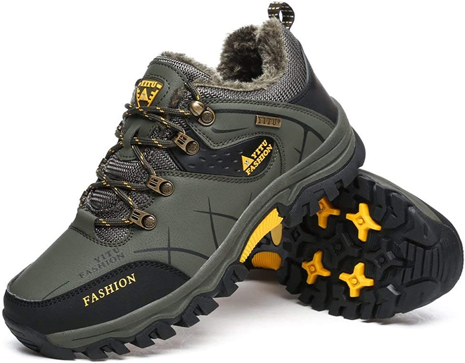 ALING Hiking Boots Mens Trail Mountain shoes Walking Travel Outdoor Sneaker Plus
