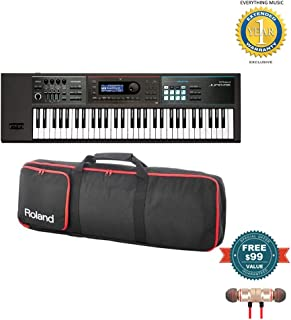 Roland JUNO-DS61 61-key Synthesizer with Gigbag RAM-4879 Bundle includes Free Wireless Earbuds - Stereo Bluetooth In-ear and 1 Year Everything Music Extended Warranty