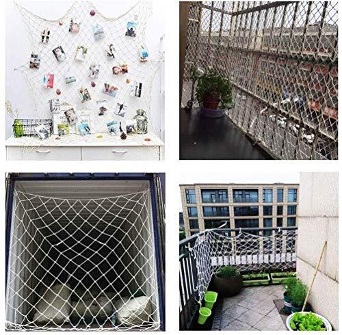 Kinder Sicherheitsnetz, Weißes Nylon Schutzseilnetz, Balkon Absturzsicherungsnetzabdeckung, Treppenzaun Haustierschutzschutznetz, Dekoratives Netzkatzen-Anti-Kletternetz, 1x2m ( Size : 1*6m(3*20ft) )