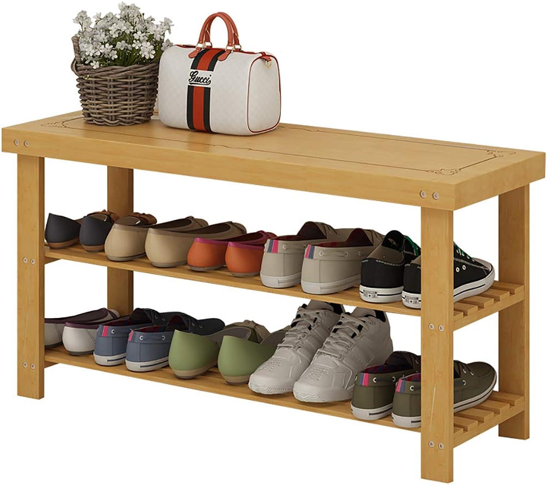 shoes Bench Organizing Rack Nan Bamboo Change shoes Stool Door wear shoes Stool Storage Stool Solid Wood Small shoes Rack (Size   70  28  45cm)
