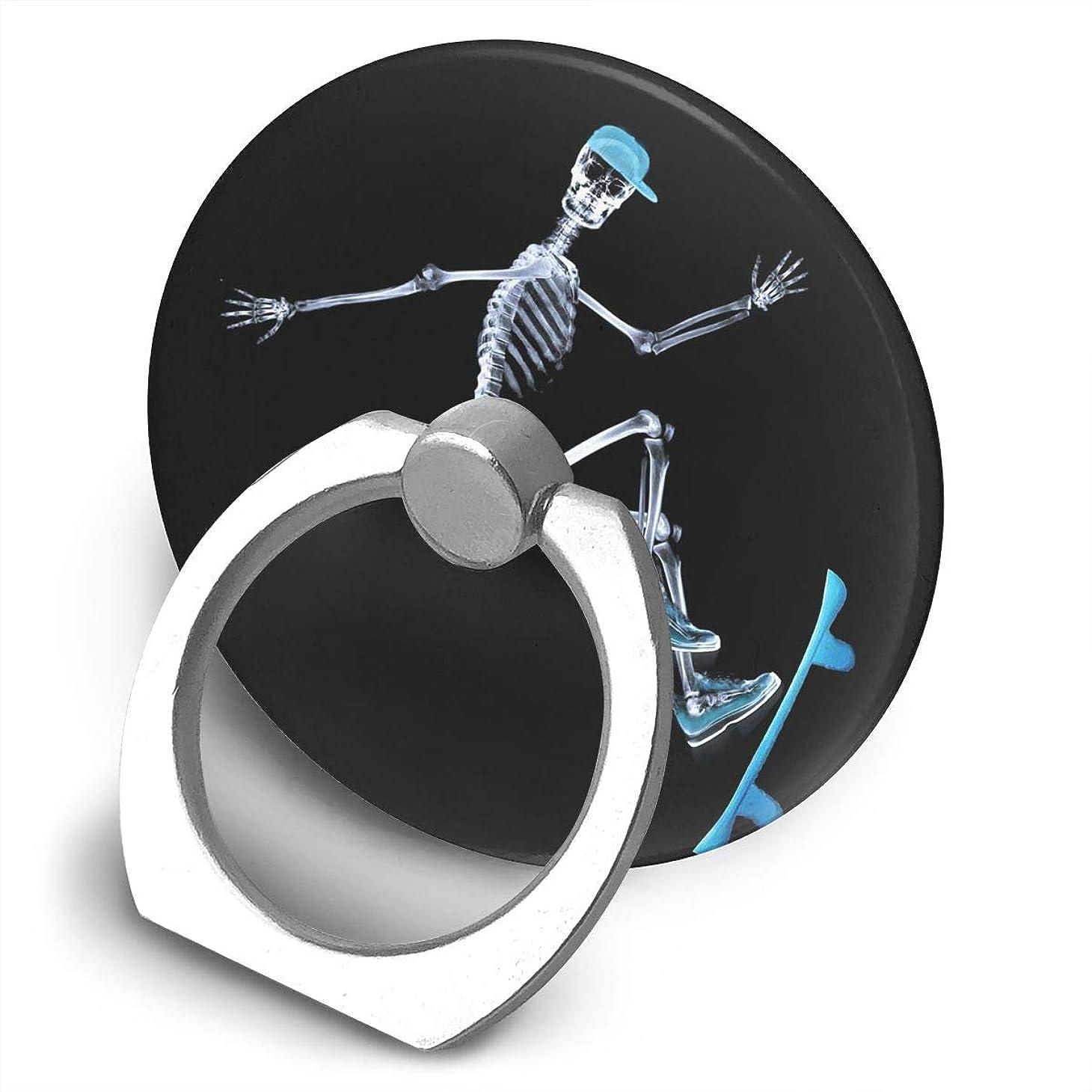 ボリューム回転させる隣接スケートボードスケルトン 360度回転 携帯リング スタンド スマホスタンド ホルダー 薄型 指輪 リング 携帯アクセサリースタンド機能 落下防止