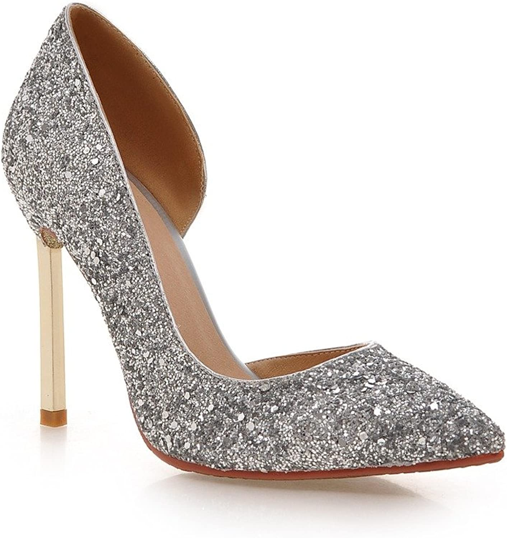 MINIVOG Women's D'Orsay Sequins High Heel Pump shoes