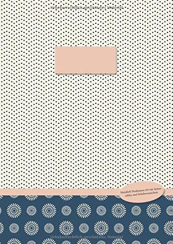 Notizheft Punktraster A4 mit Seitenzahlen und Inhaltsverzeichnis: Notizen kreativ organisieren (Mondlicht-Muster gepunktet, Band 3)