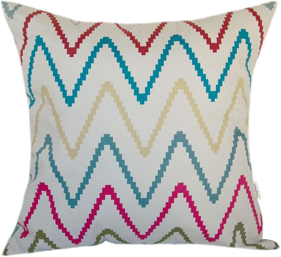 TangDepot Decorative Handmade Stripe Cotton Throw Pillow Cover,