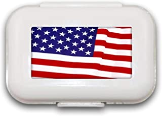 Verenigde Staten van Amerika Vlag Normaal Pill Box Pill Case Pill Organizer Decoratieve Boxen Pill Box voor Pocket of Purs...