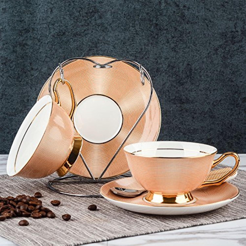 Ajunr-exquisite Mode Mug à café en porcelaine anglaise kit de tasse à café en céramique Tasses Tasses à thé dans l'après-midi de l'emballage