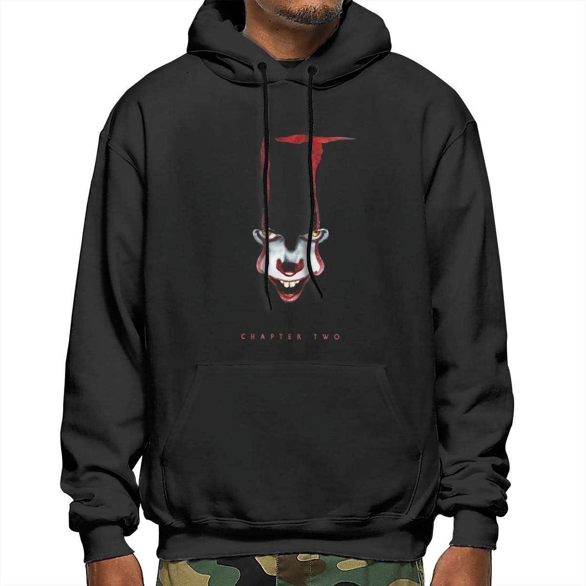 HRSHENG Boys Designed It Chapter 2 Logo Hooded New Sweatshirts Black