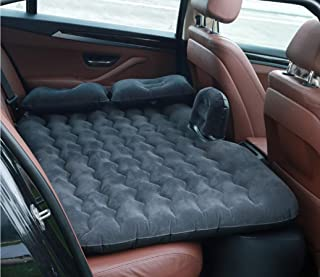 7Buy Car Travel Inflatable Air Mattress with Two Air Pillows Universal Car SUV for Long Car Journey (Black)