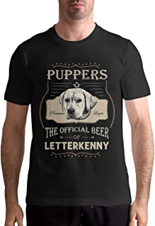 ADAMJORDAN Puppers Premium Larger The Offical Beer of Letterkenny Mens Cotton Soft T Shirt