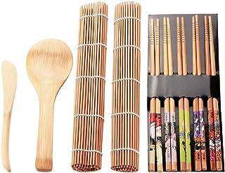 Bambus Sushi Rollmatte, Sushi Making Kit 13 Stück, Anfänge