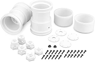 J Concepts 3377W Tribute 2.6x3.6 Monster Truck Wheels with Adaptors, White (1 Pair)
