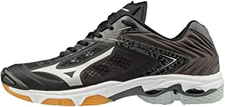 MIZUNO V1GA190004 Wave Lightning Z5 Men's Volleyball Shoes, Black/Silver/Dark Shadow