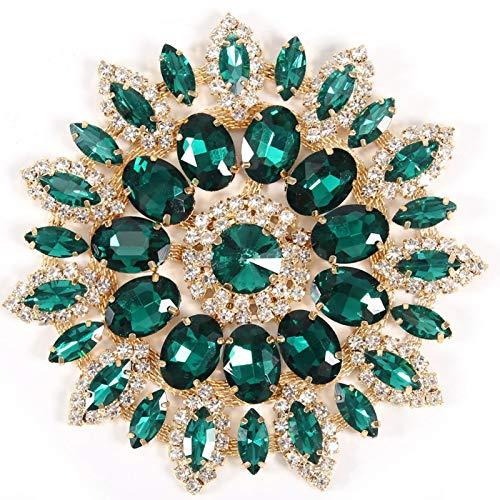 Clips de zapatos de flores de cristal Decoración de diamantes de imitación de cristal de cristal, Broche de diamantes de imitación de cristal vintage para bricolaje Ropa Accesorios para bolsos(2)