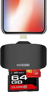 iPhone iPad専用Lightning 3in1 USB3.0 高速な写真と動画転 SDカードリーダー マルチカードリーダー microメモリ SDカードカメラリーダー カメラカードリーダー マイクロ SD カード リーダーアルミ合金 SD/SDHC/SDXC/Micro SD/Micro SDXC Androidコンピュータ対応【2019最新版】 (IPHONE)