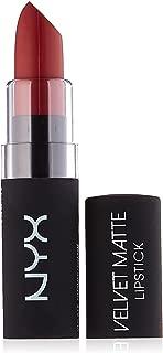 NYX Professional Makeup Velvet Matte Lipstick, Charmed, 0.14 Ounce