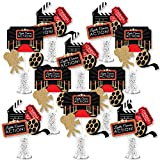 Big Dot of Happiness Red Carpet Hollywood - Movie Night Party Centerpiece Sticks - Showstopper Table Toppers -...