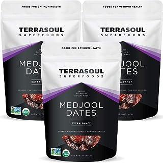 Terrasoul Superfoods Organic Medjool Dates, 6 Lbs - Soft Chewy Texture | Sweet Caramel Flavor | Farm Fresh