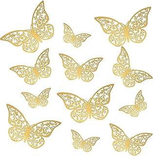 Magico's set 12 3D Vlinders Decoratieve muurstickers, gemaakt van PVC ideaal om een artistieke touch te geven aan je woo...