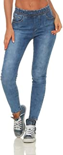 c5ea1f6cd3e90f Fashion4Young 10802 Damen Jeans Hose Boyfriend Haremsjeans Haremsstyle  Röhre Damenjeans Pants