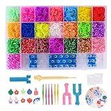 FORMIZON Loom Bands, 4400 Kit Completo, 22 Colores, Kit de CREA de Brazaletes y Loom Juguetes, Juego Creativo para Niños (4400)