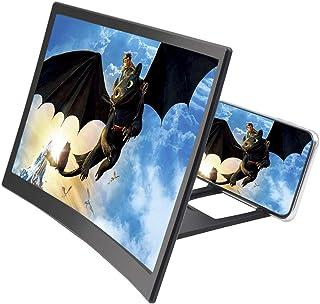 WYING Loupe d'écran Courbe 12 '', Support d'agrandisseur vidéo HD 3D agrandisseur d'écran pour iPhone XS/XR/X / 8/8 Plus /...