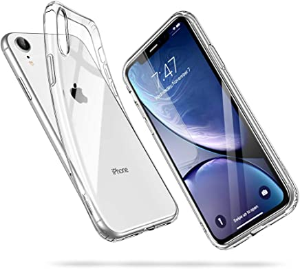 "ESR Funda para iPhone XR, Funda para Suave TPU Gel Ultra Fina Protección a Bordes y Cámara Compatible con Carga Inalámbrica Enjaca Apple iPhone XR de 6.1""-Transparente"