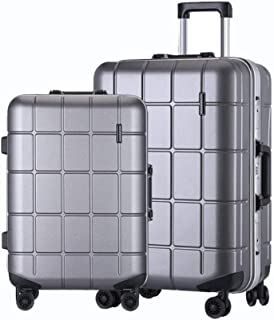 """WHPSTZ Trolley Travel Suitcase Waterproof Lightweight Lightweight 24"""" Suitcase Men and Women 20 Inch PC Business Boarding Case Trolley case (Color : Gray, Size : 20 inch)"""