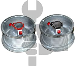 """Garage door cable drums 400-12 standard lift 12'1"""" cable 375lbs / drums"""