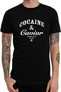 Top-T Cocaine and Caviar Casual Mens T Shirts