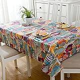 Tropical Ocean Fish Table Cloth Non-Slip Table Cover Adiabatic Home Decor Tablecloth Background Cloth Manteles
