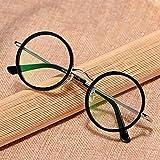 MANG Occhiali da Lettura Rotondi retrò Occhiali da Vista Ultraleggeri Occhiali da Presbiopia da Uomo/Donna Anti Affaticamento della Vista, Struttura in Metallo