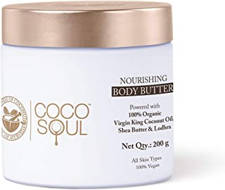 Coco Soul Body Butter | With Coconut, Shea Butter & Ayurveda | Paraben, Silicones & Mineral Oil Free | 100% Vegan | 200g