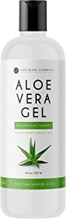 Aloe Vera Gel for Moisturizing Skin & Hair by Kate Blanc Cosmetics. Made from Freshly Cut Organic Pure Aloe Plant. 8oz. (Original)