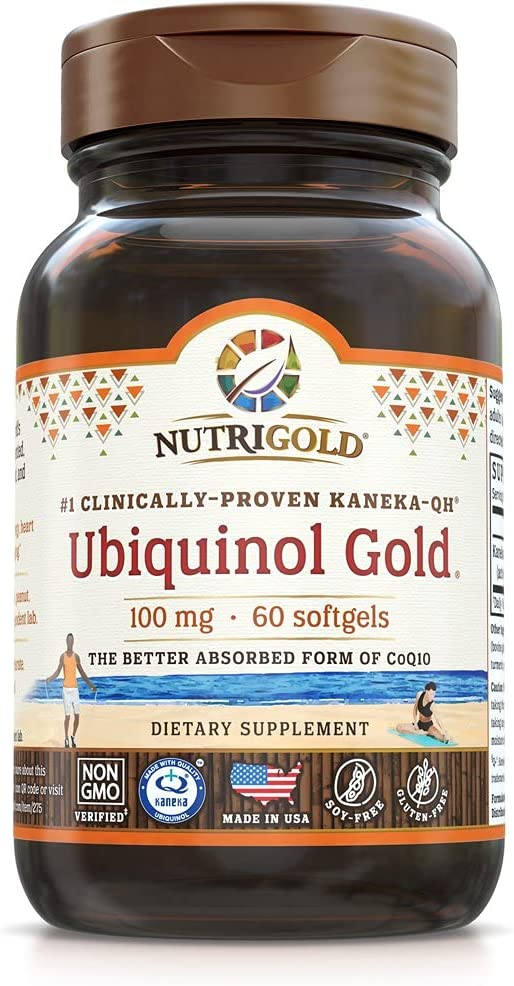 Nutrigold Ubiquinol supreme Gold Cardiovascular Energy and Cellular Free Shipping New Supp
