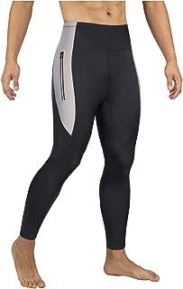 Mens Hot Slimming Sauna Pants for Weight Loss Neoprene Body Shapers Sweat Workout Capri Leggings