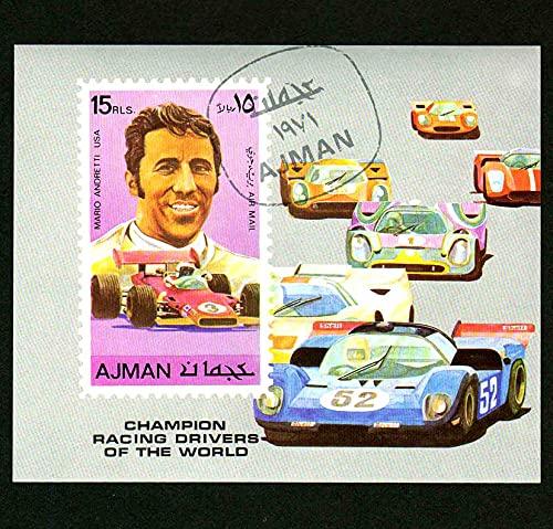 FGNDGEQN Colección de Sellos Agiman 1971 F1 Equata Racing World Champion Andrei Stamp St Sello Pequeño Sello ha Sido Sellado