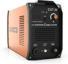 SUNCOO Portable Pro. Plasma Cutter, Cut 50 Electric DC Inverter Metal Plasma Cutting Machine with Digital Display 50 Amp Dual Voltage 110/220V with Accessories
