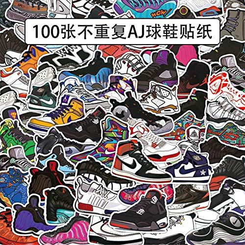 Sneakers Koffer Stickers Getij Merk Waterdichte Persoonlijkheid Koffer Koffer Man Computer Muur Decoratie 100 Vellen